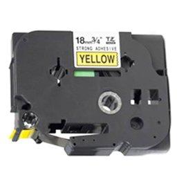 Fita para Rotulador Preto sobre Amarelo 18mm x 8m