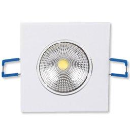 Lâmpada Led Spot Light Quadrado 300 Lúmens 5W 3000K Amarela para Embutir