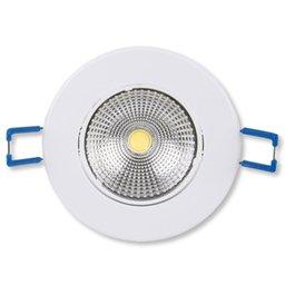 Lâmpada Led Spot Light Redondo 300 Lúmens 5W 3000K Amarela para Embutir