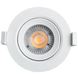 Spot Led Redondo 500 Lúmens 7W 3000K Luz Amarela para Embutir