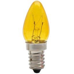 Lâmpada Chupeta 7W E14 Bulbo CH24 Cor Âmbar 110V