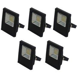 Kit Refletor BLUMENAU-74106000 LED Slim 10W Luz Branca 6.000K Bivolt com 5 Unidades