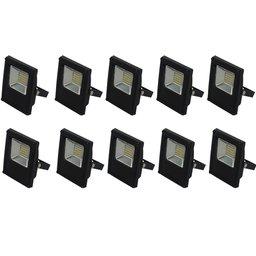 Kit Refletor BLUMENAU-74106000 LED Slim 10W Luz Branca 6.000K Bivolt com 10 Unidades