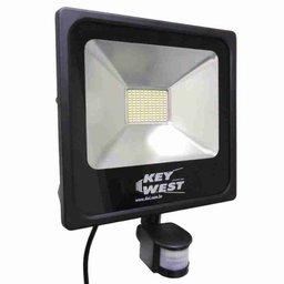 Refletor Holofote Slim Bivolt 30W 6000K  Branco com Sensor