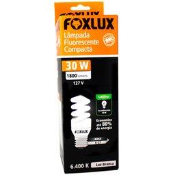 Lâmpada Fluorescente Tipo Espiral 30W 6400K Branca 110V