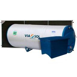 Kit Reservatório Térmico Boiler VIASOL-VSRTBP200500FSA304 200L + Coletores Solar Vertical 2000 x 1000 mm + Caixa Acoplada