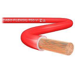 Cabo Flexsil 750 V Flexível 2,5mm Vermelho Rolo 100 Metros