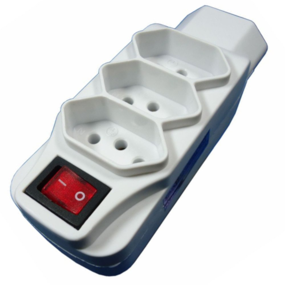 Adaptador Universal 4T + 2P + T 10A com Interruptor Liga/ Desliga