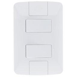 Conjunto 2 Interruptores 6A 250 V 4 x 2 Branco