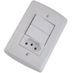 Conjunto 2 Interruptores + 1 Tomada de 10A