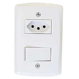Conjunto de Interruptor + Tomada 2P+T 10A