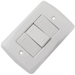 Conjunto 3 Interruptores Paralelo 10A  Branco 250V