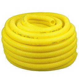 Eletroduto Corrugado Conduíte Antichama PVC 1 Pol. Amarelo 25 Metros