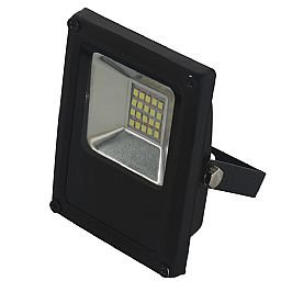 Refletor LED Slim 10W Luz Amarela 3.000K Bivolt