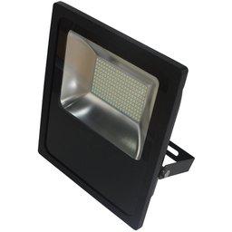 Refletor LED Slim 100W Luz Amarela 3.000K Bivolt