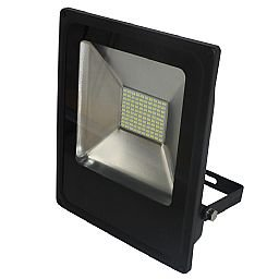 Refletor LED Slim 50W Luz Branca 6.000K Bivolt