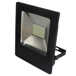 Refletor LED Slim 50W Luz Amarela 3.000K Bivolt