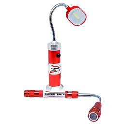 Kit Lanterna Led Tipo Abajur + Lanterna Telescópica com Cabeça Flexível