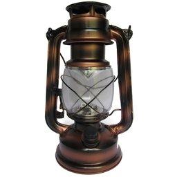 Lampião Retrô Cobre Envelhecido com Lâmpada de Led