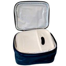Marmita Térmica com Divisória Azul Marinho