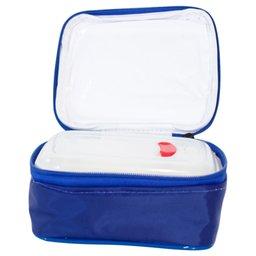 Marmita Térmica com Divisória Azul Royal