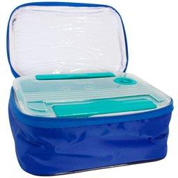 Marmita Térmica com Bandeja Azul Royal