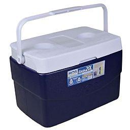 Caixa Térmica Glacial 20 Litros Azul com Alça