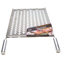 Grelha Gourmet Tauros 30 x 50cm em Aço Inox para Churrasqueira