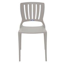 Cadeira Sofia Camurça com Encosto Vazado Vertical em Polipropileno e Fibra de Vidro