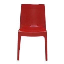 Cadeira Alice Polida Vermelha sem Braços em Polipropileno