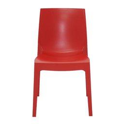 Cadeira Alice Satinada Vermelha sem Braços em Polipropileno