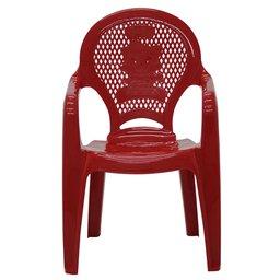 Cadeira Infantil Catty com Braços Estampada Vermelha