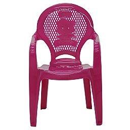 Cadeira Infantil Catty com Braços Estampada Rosa