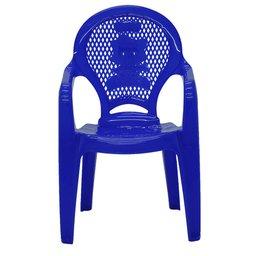Cadeira Infantil Catty com Braços Estampada Azul