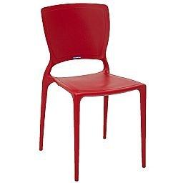 Cadeira Sofia com Encosto Fechado Vermelha