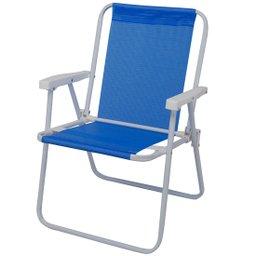 Cadeira de Aço Alta Sannet Azul