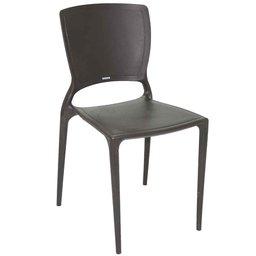 Cadeira Encosto Fechado Marrom - Sofia
