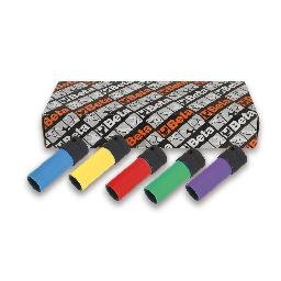 Jogo De 5 Soquete De Impacto Para Porcas De Roda, Com Capas Coloridas Em Polímero 720Lc/S5