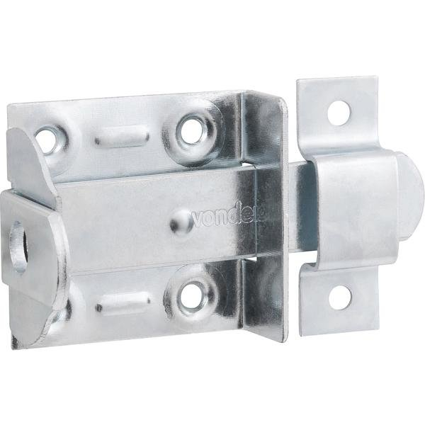 Fecho chato com porta-cadeado 4 Pol.  zincado encartelado VONDER - Imagem zoom