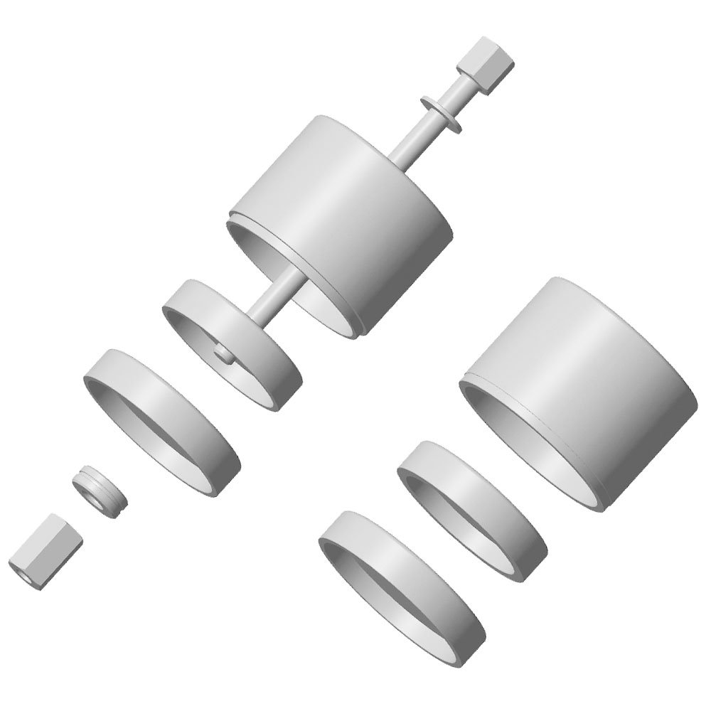 Ferramenta para Trocar Buchas Diâmetro 65 ou 70mm Coxim Inferior do Motor de Peugeot/Citroen - Imagem zoom
