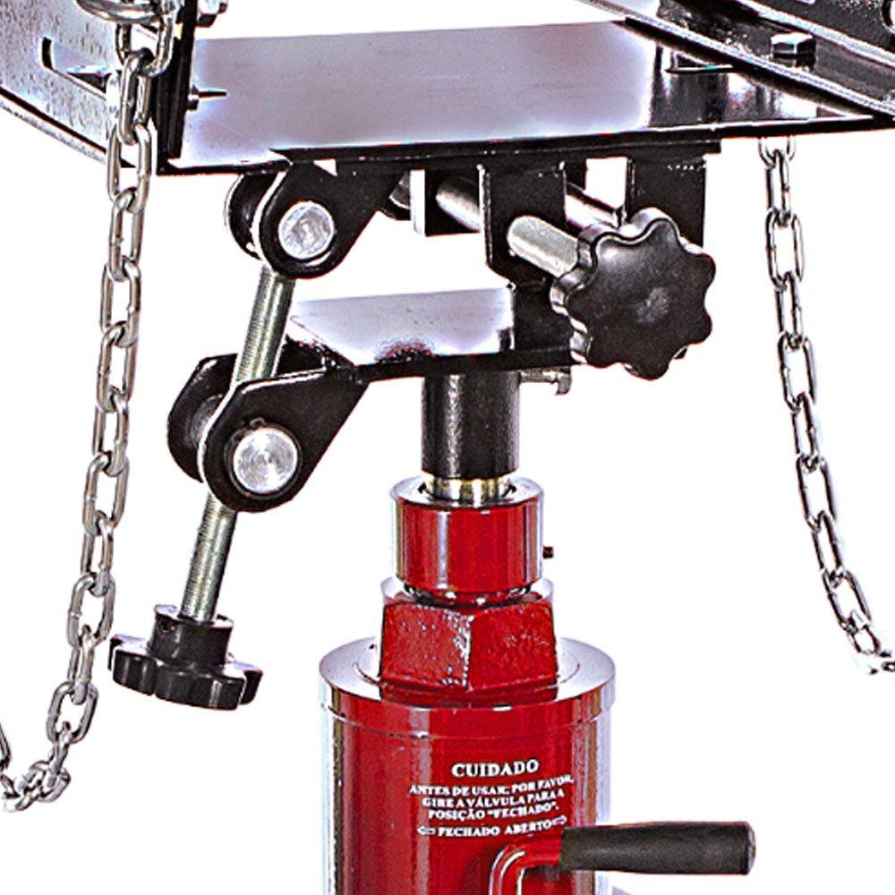 Macaco Hidráulico Telescópico 2 Estágios p/ Retirar o Câmbio Vermelho 500Kg - Imagem zoom