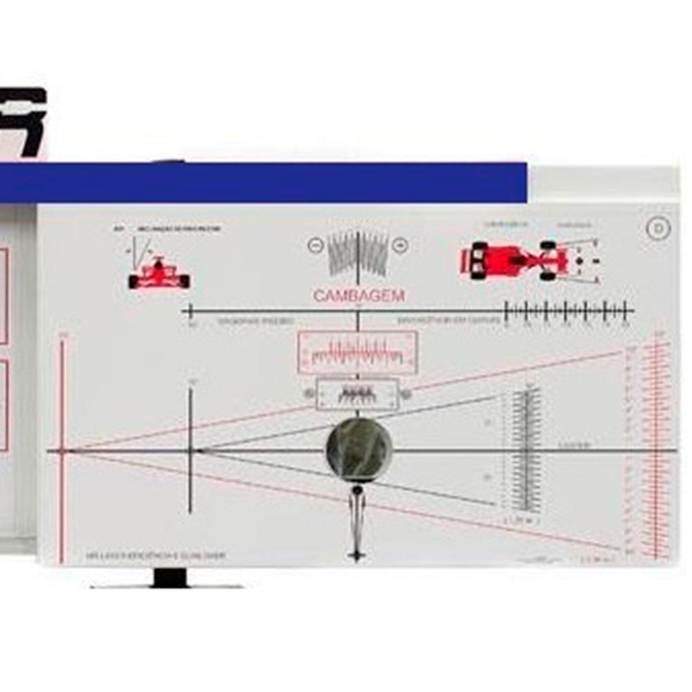 Alinhador de Direção Dianteiro/Traseiro Automotivo Azul para Rampa - Imagem zoom