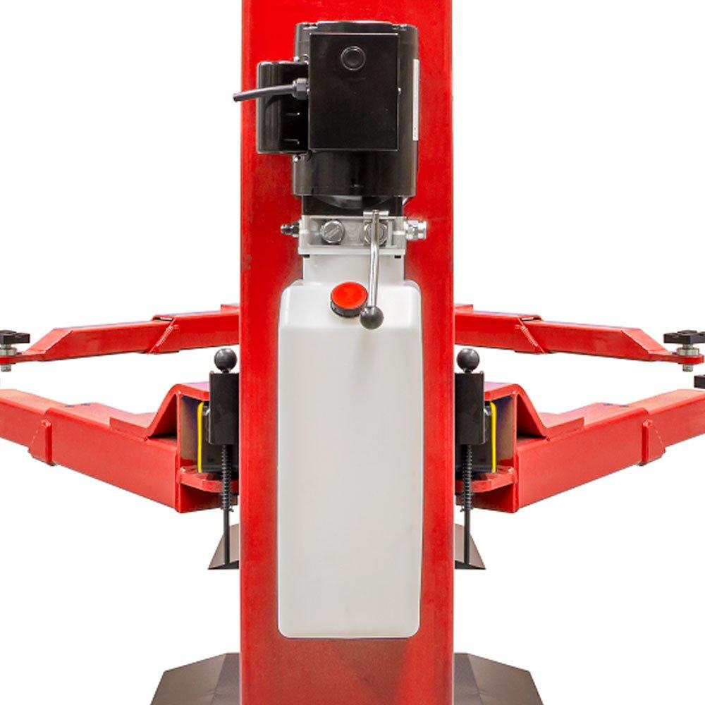Elevador Hidráulico 3T Double Lock 2,2KW Monofásico  Vermelho com Base - Imagem zoom