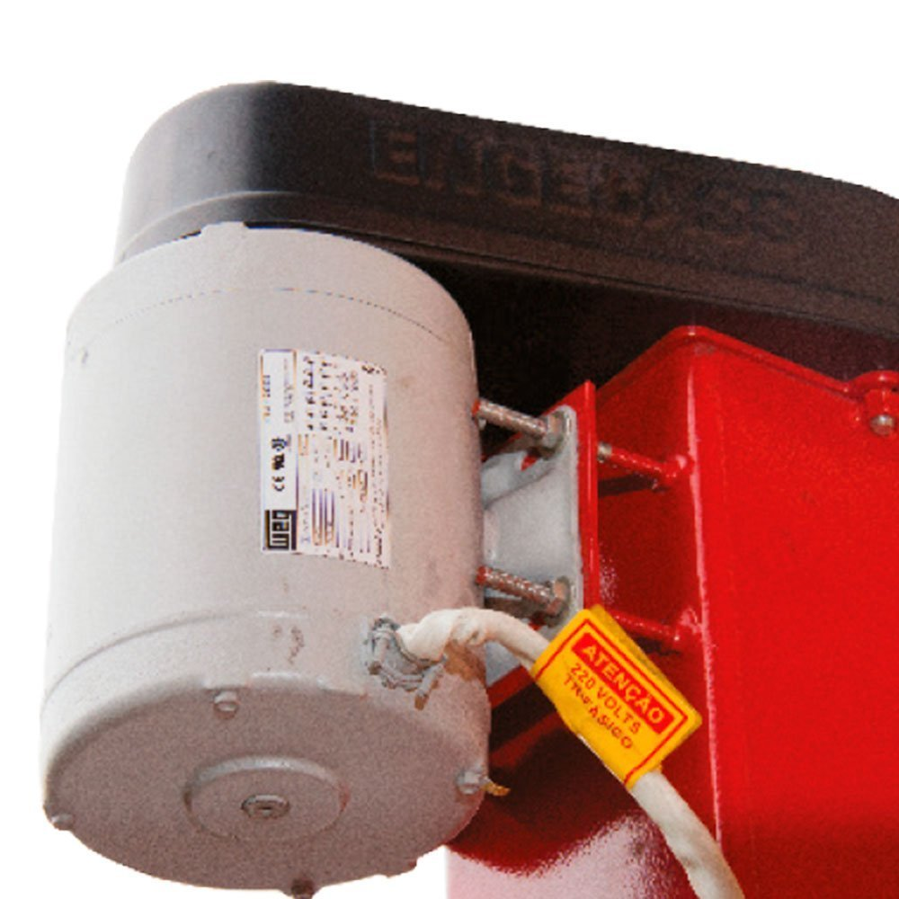Elevador Automotivo Vermelho 2,6T 4CV Trifásico 220V Lubrificação a Graxa EC-2600 - Imagem zoom