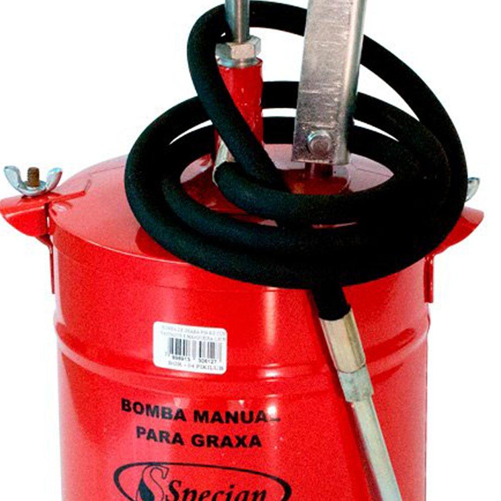 Bomba Manual para Graxa com Reservatório de 4Kg e Mangueira de 1,3m - Imagem zoom