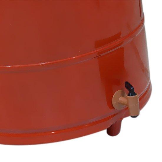 Coletor de Óleo Vermelho 50 Litros com Rodas - Imagem zoom