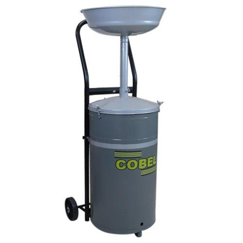 coletor de óleo 50 litros com rodas - cinza