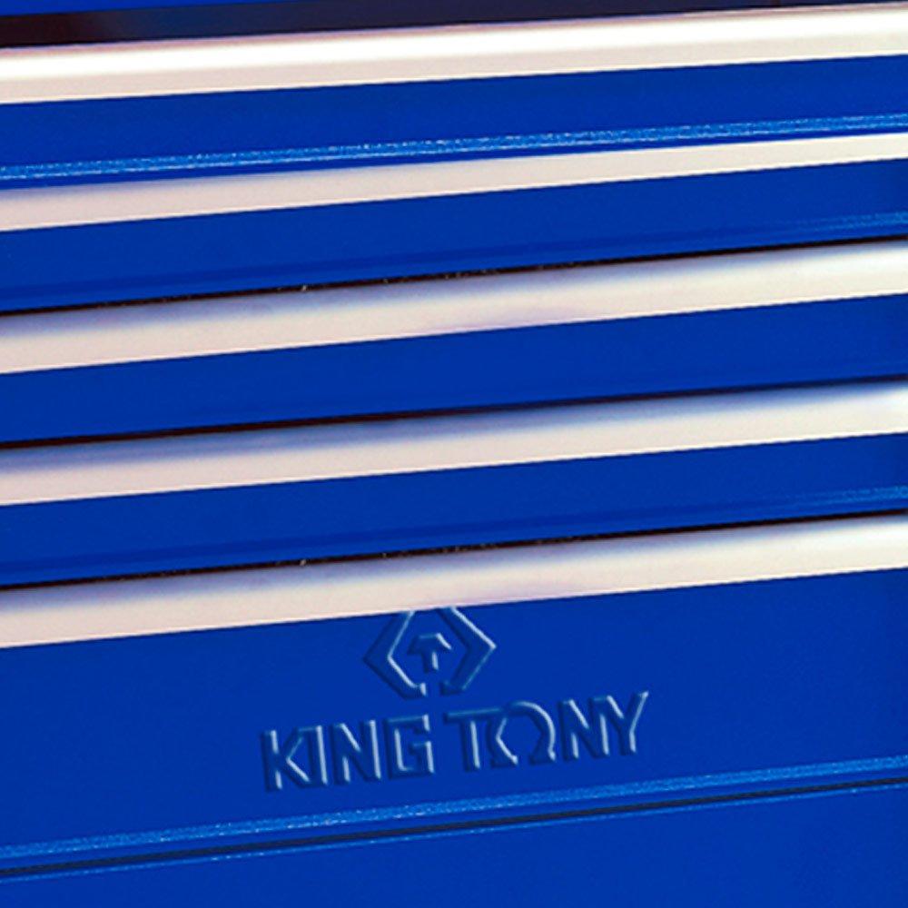 Carrinho Metálico Azul com 5 Gavetas e Baú - Imagem zoom