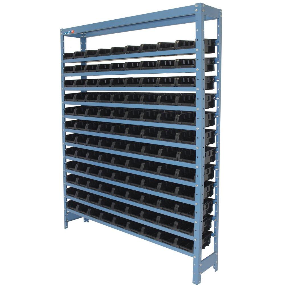 Estante Compacta Com 108 Caixas Nr. 3 Cor Preta  - Imagem zoom
