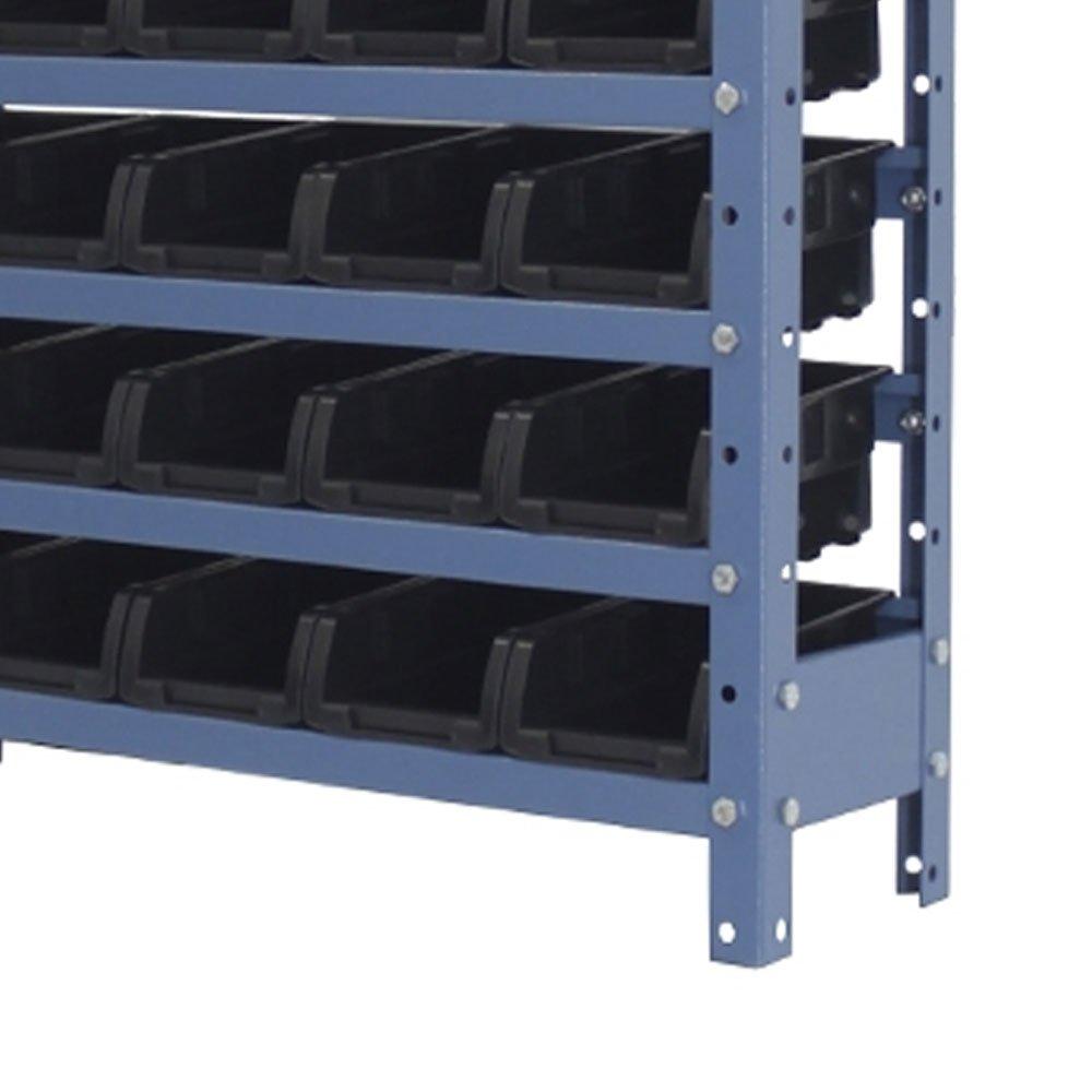 Estante Porta Componentes com 30 Caixas Pretas Nr. 3 - Imagem zoom